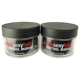 Sexyhair style sexy hair control maniac 7 shine 7 hold styling wax 1.8 oz - 2 pack