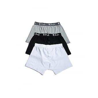 Pringle Of Scotland Pringle 3 Pack Knitted Boxer Shorts Black/grey/white