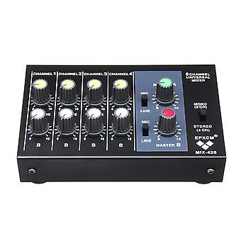 8 Channel Professional Mixing Console Digital Instrument Mic Stereo Audio Sound Mixer with for Karao