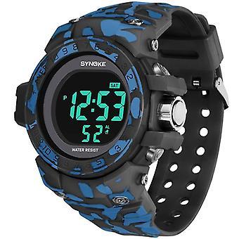SYNOKE 9030 Fashion Mænd Watch Vandtæt Uge Display Alarm EL Light Camouflage