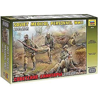 Zvezda 1:35 Soviet Medical Personnel WWII Model Kit