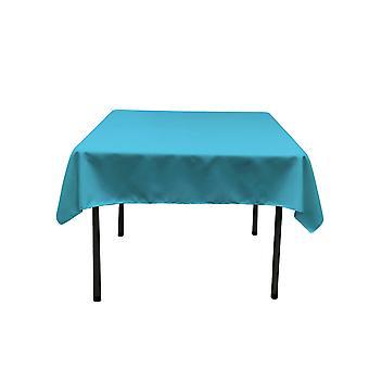 La Leinen Polyester Poplin Quadratische Tischdecke, 58 von 58-Zoll, dunkel Türkis