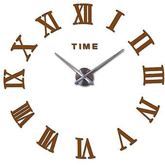 Home Decor Large Roman Mirror Fashion Modern Quartz Clocks