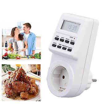 Eu Plug Programmable Timer Switch Socket With Clock
