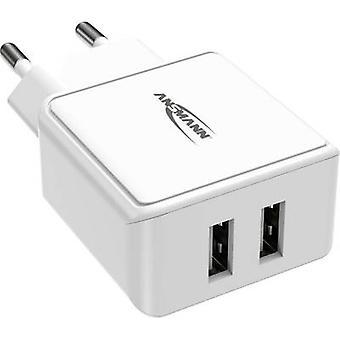 Ansmann HomeCharger HC212 1001-0114 USB-laddare Nätuttag Max utgångsström 2400 mA 2 x USB 2.0 port A