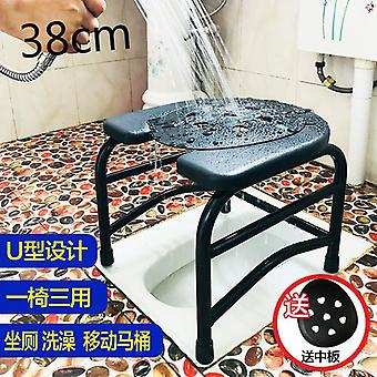 Elderly Commode Chair Mobile Toilet Shower Portable Safe Pregnant Woman Potty