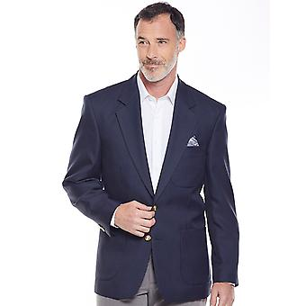 Chums Mens Chums Single Breasted Long Fitting Oxford Blazer