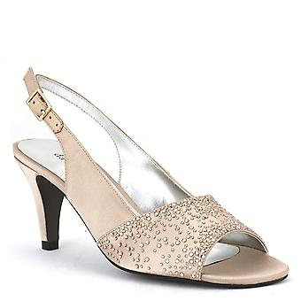 David Tate Womens Stunning Open Toe Ankle Strap Classic Pumps
