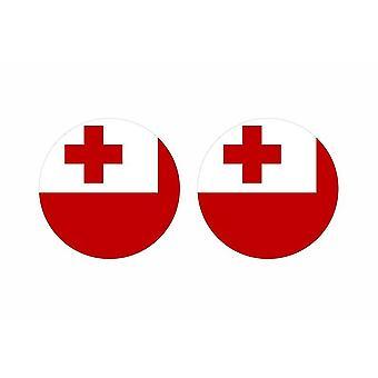 2x palo pegatina redonda cocarde bandera tonga