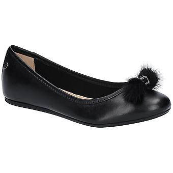 Hush puppies women's heather puff ballet flat shoe various colours 27373