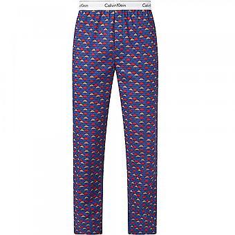 Calvin Klein moderne Baumwolle Pyjama Hose, Wolke Geo/Chino blau, X-Large