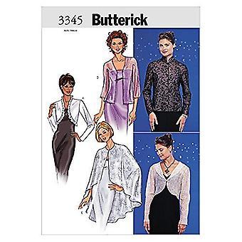 Butterick نمط الخياطة 3345 يخطئ المعاطف والسترات أحجام 18-22
