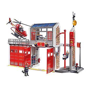 محطة بلاي موبيل للإطفاء مع جهاز إنذار