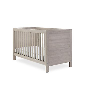 Ickle Bubba Grantham Mini Cot Bed - Grey Oak