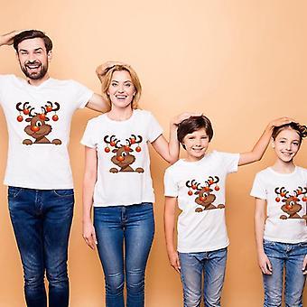 Joulu matching vaatteet, Punk Dance Lyhythihainen T-paita