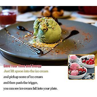 Wokex Gourmet Eisportionierer, Cromargan Edelstahl poliert mit Abzug fr Fruchtjoghurt und Keksteig,