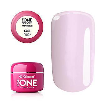 Base One - UV Gel - Metallic - Pearl Pink - 02 - 5g
