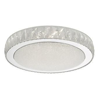 Flush plafond licht acryl en roestvrij staal grote LED