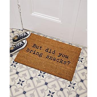Stolthet av plats Astley tryckt Coir dörrmatta med PVC-stöd Non - Slip Vattentäta Snacks Slogan 40 x 60cm