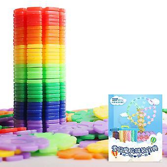 Пластиковые Снежинка Взаимосвязанные блоки Строительство - Строительство Игрушки Дети 3D Головоломка Детский сад Детская игрушка