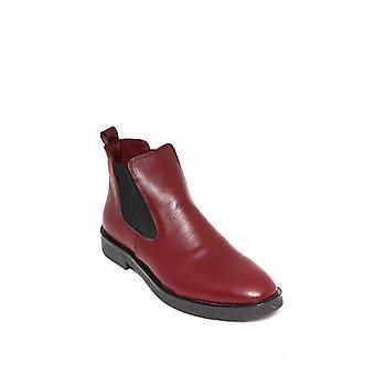 Skórzane bordowe buty chelsea | wessi