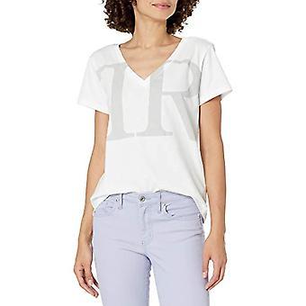 True Religion TR Classic Vneck T-Shirt, Optical White, L Woman