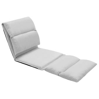 vidaXL chaise pliante en fibre de carbone gris clair