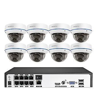 Turvakamerajärjestelmä Ip Dome Kamera Vandal-kestävä Sisäääni Cctv Kamera