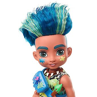 Cave Club Fernessa and Slate Fashion Doll with Ptilly and Taggy Pet Dinosaur