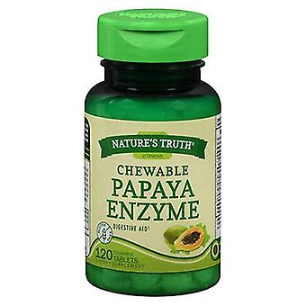 Nature's Truth Chewable Papaya Enzyme, 120 Tabs