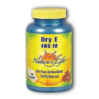 Nature's Life Dry Vitamin E, 400 IU, 100 caps