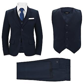 vidaXL Jungen-Anzug 3-tlg. Größe 140/146 Marineblau
