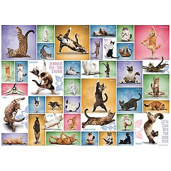 Eurographics Yoga Cats Jigsaw Puzzle (1000 Pièces)