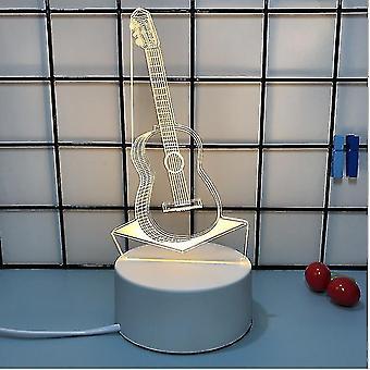 Creative 3d Night Light, Trzy jasne kolory, romantyczny prezent dla dziewczynki z okazji walentynek (S2)