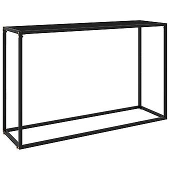 mesa de console vidaXL preto 120x35x75 cm vidro temperado