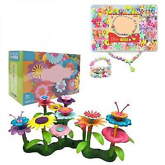 Diy Handmade Flower Arrangement Toys(46 PCS And Beads)