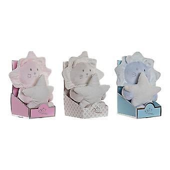 Soft toys DKD Home Decor Blue Beige Pink Polyester (10 x 10 x 18 cm) (3 pcs)
