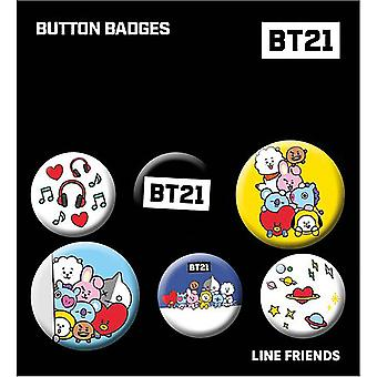 BT21 Button Badge Set Official Licensed Product