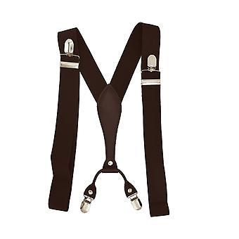 Elegant dark brown suspenders