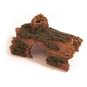 Rozenhout blauw lint Decor verbergen Log Ornament