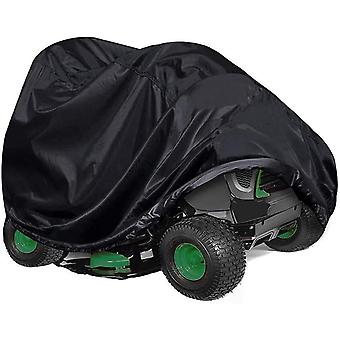 (XXL(245*50*140)CM) Universal Heavy Duty Waterproof Lawn Mower Cover Black