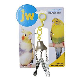 JW Insight Fork, Knife & Spoon Bird Lelu - Haarukka, Veitsi & Lusikka Lintu lelu