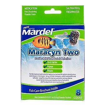 ماردل Maracyn اثنين من الأدوية المضادة للبكتيريا حوض السمك - مسحوق - 8 عدد - (8 × 0.021 أوقية مسحوق الحزم)