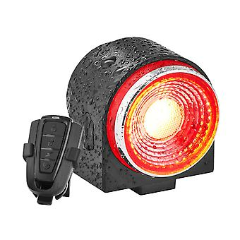 Bike Alarm Tail Light USB Rechargeable Ultra Bright Rear Bike Lights,Smart Brake Sensing Anti Theft Bicycle Alarm with Remote,IPX65 Waterproof LED Taillights for Bike(Black)