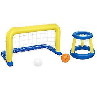 4 חלקים סט בריכת שחייה כדורסל כדורגל כדורעף להגדיר מתנפחים חוף מים משחקים