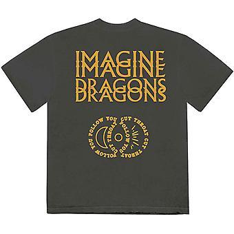 תארו לעצמכם דרקונים יוניסקס חולצת טריקו: סמלים חמודים (הדפס אחורי)