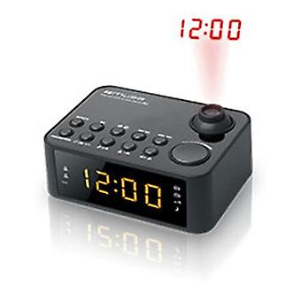 Muse Clock Radio M-178P Black, 0.9 inch yellow LED, with dimmer