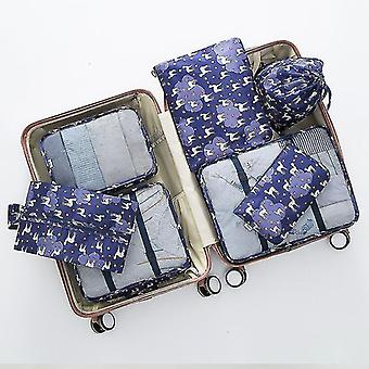 Packing organizers 7 piece set of luggage packing travel organizer cubes and pouches staying alpaca