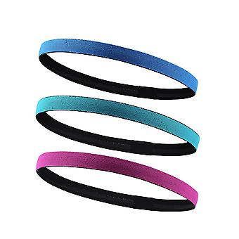 3pcs Yoga Fitness Hair Band Fast Dry Lightweight Sweatband