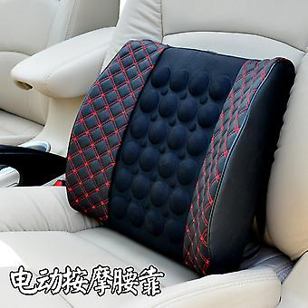 12v Automobil Massage Lendenwirbelstütze Elektrische Lendenwirbelsäule Kissen Fahrzeug montiert Lendenkissen Sitz Rückenlehne Rücken & Lendenwirbelstütze Kissen